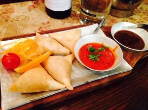 Goats Cheese and Salmon Samosa
