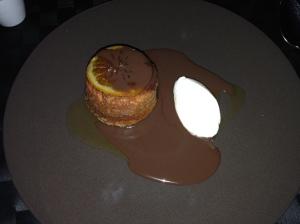 Jaffa cake sponge pudding