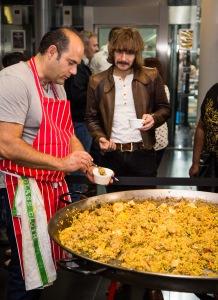 Alfonso Yufera-Ruiz from Don Diego restaurant serving fresh paella