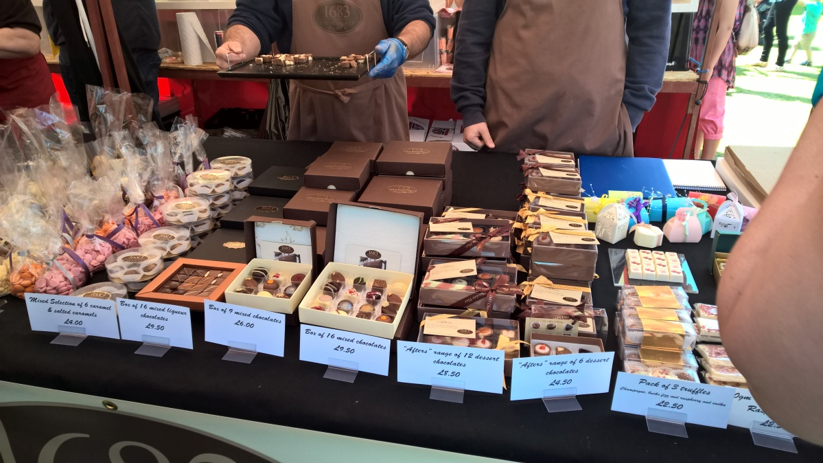 Chocolates at Foodies Festival Birmingham