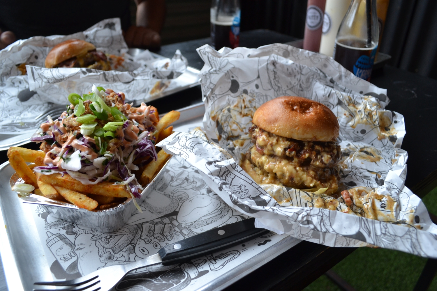 Gastronomic Gorman Birmingham Food Blogger Original Patty Men Bourbon Squealer and Fries