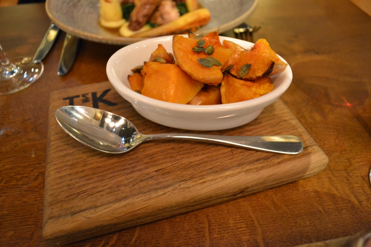 Gastronomic Gorman Tom's Kitchen Birmingham Review Roast Butternut Squash Side Dish